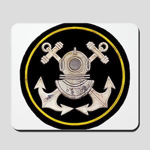 3-Bolt Dive Helmet and Anchors Mousepad