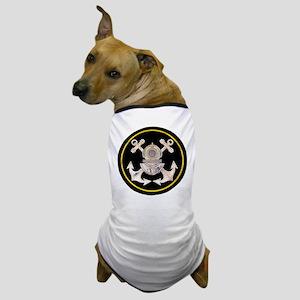 3-Bolt Dive Helmet and Anchors Dog T-Shirt