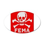 FEMA 35x21 Oval Wall Decal