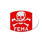FEMA 20x12 Oval Wall Decal