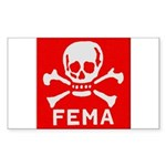 FEMA Sticker (Rectangle 50 pk)