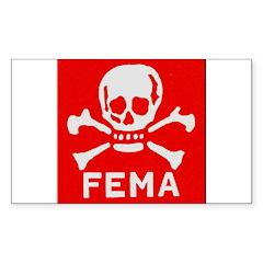 FEMA Sticker (Rectangle 10 pk)