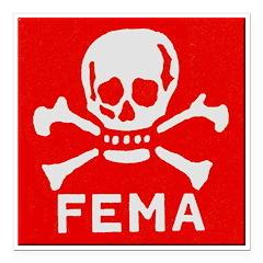 FEMA Square Car Magnet 3