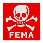 FEMA Square Car Magnet 3