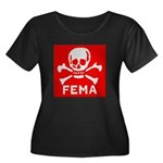 FEMA Women's Plus Size Scoop Neck Dark T-Shirt