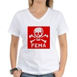 FEMA Women's V-Neck T-Shirt