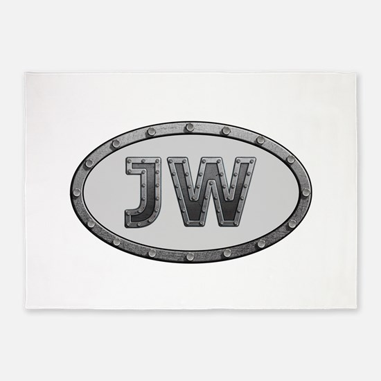 JW Metal 5'x7'Area Rug