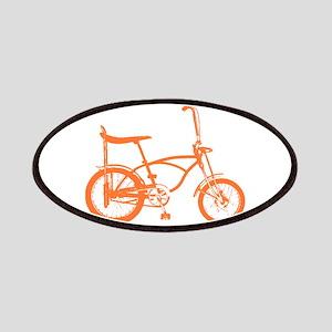 Retro Orange Banana Seat Bike Patches