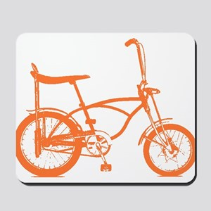 Retro Orange Banana Seat Bike Mousepad
