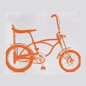 Retro Orange Banana Seat Bike Throw Blanket