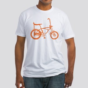 Retro Orange Banana Seat Bike Fitted T-Shirt