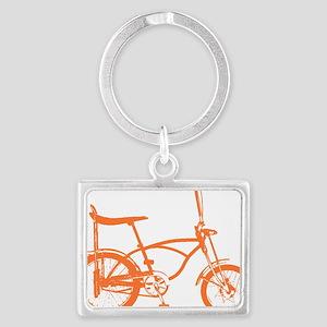 Retro Orange Banana Seat Bike Landscape Keychain