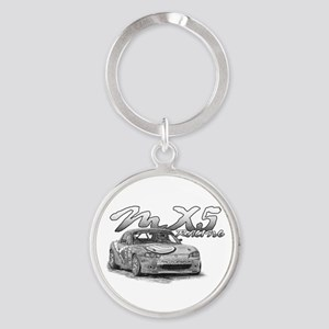 MX5 Racing Round Keychain