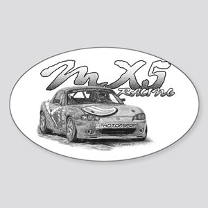 MX5 Racing Sticker (Oval)