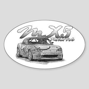 MX5 Racing Sticker (Oval)