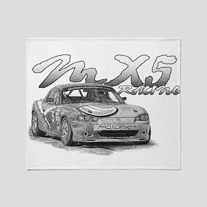 MX5 Racing Throw Blanket