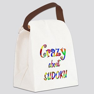Crazy About Sudoku Canvas Lunch Bag