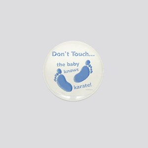 Karate Baby Blue Mini Button