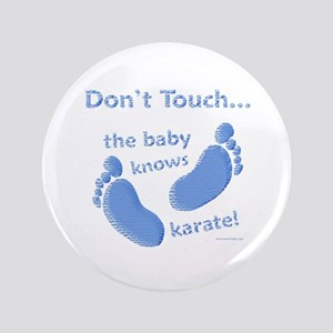 """Karate Baby Blue 3.5"""" Button"""