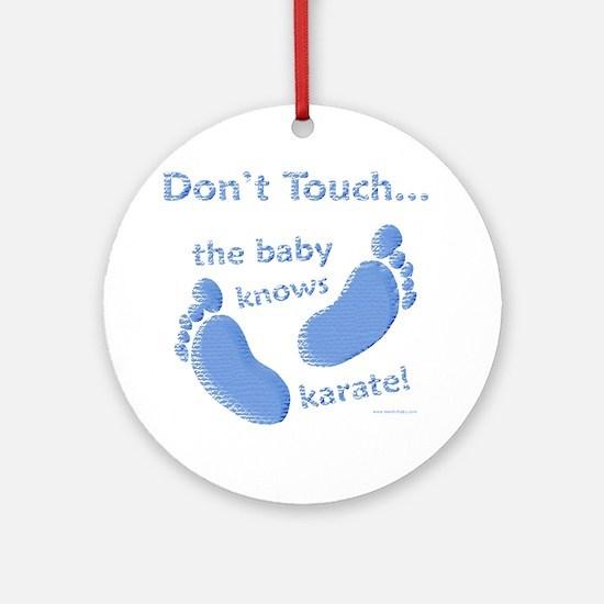 Karate Baby Blue Ornament (Round)