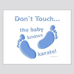 Karate Baby Blue Small Poster