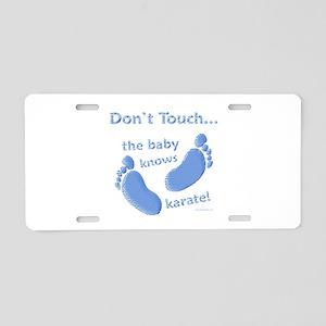 Karate Baby Blue Aluminum License Plate