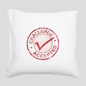 Challenge-Accepted-Round Square Canvas Pillow