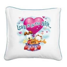 Love is in the Air Square Canvas Pillow