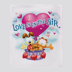 Love is in the Air Throw Blanket