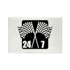 24/7 Racing Rectangle Magnet