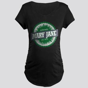 Mary Jane Ski Resort Colorado Green Maternity Dark