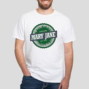 Mary Jane Ski Resort Colorado Green White T-Shirt
