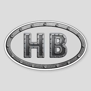 HB Metal Sticker (Oval)