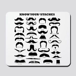 Know Your Staches Mousepad