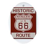 Rialto Route 66 Ornament (Oval)