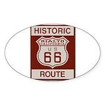 Rialto Route 66 Sticker (Oval 50 pk)