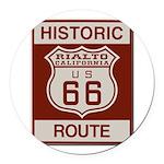 Rialto Route 66 Round Car Magnet