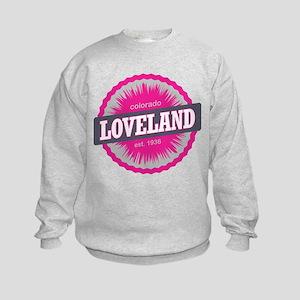 Loveland Ski Resort Colorado Pink Kids Sweatshirt