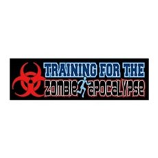 Training for the Zombie Apocalypse Running Wall Decal