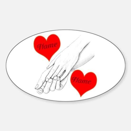 Custom Romance Sticker (Oval)