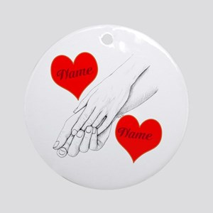 Custom Romance Ornament (Round)