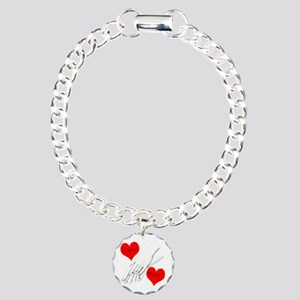 Custom Romance Charm Bracelet, One Charm