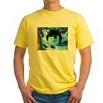 scottishcat Yellow T-Shirt