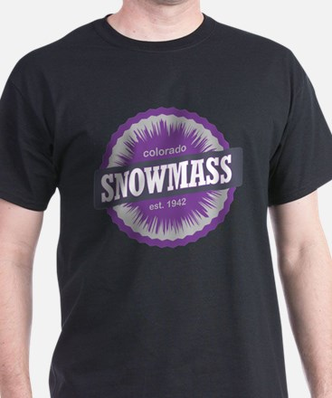 Snowmass Ski Resort Colorado Purple T-Shirt