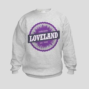Loveland Ski Resort Colorado Purple Kids Sweatshir