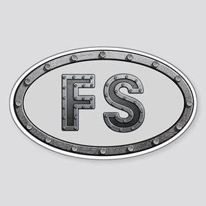 FS Metal Sticker (Oval)