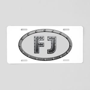 FJ Metal Aluminum License Plate