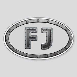 FJ Metal Sticker (Oval)