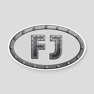FJ Metal Oval Car Magnet