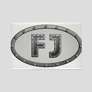 FJ Metal Rectangle Magnet